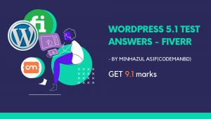 fiverr wordpress test answers