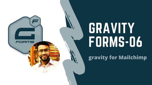 gravity form(mailchimp lead collect form)