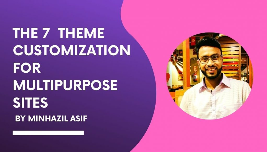 THE 7 theme customization for multipurpose sites