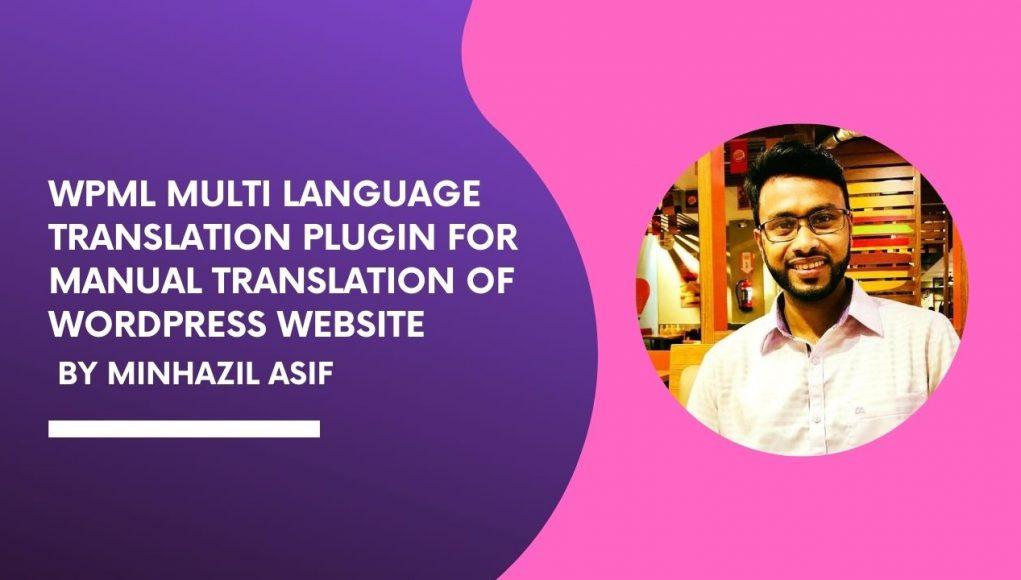 wpml multi language translation plugin for manual translation of wordpress website