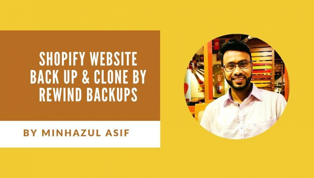 SHOPIFY website Back Up & Clone by rewind backups