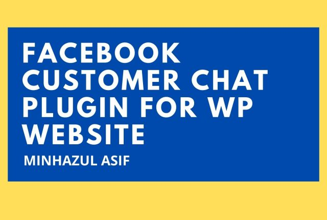 Facebook Customer Chat Plugin for wp website