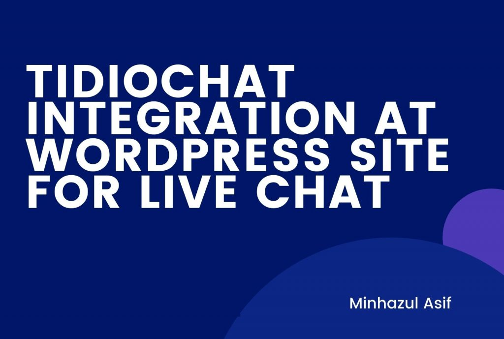 tidiochat integration at wordpress site for live chat