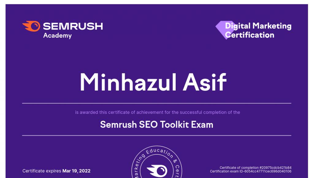 Semrush SEO Toolkit Exam Answers