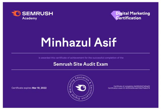 Semrush Site Audit Exam Answers