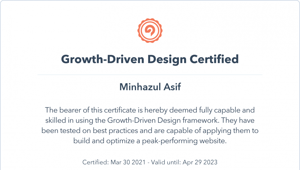 HubSpot growth driven design certification answers